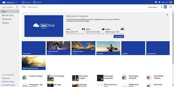 OneDrive Web Interface