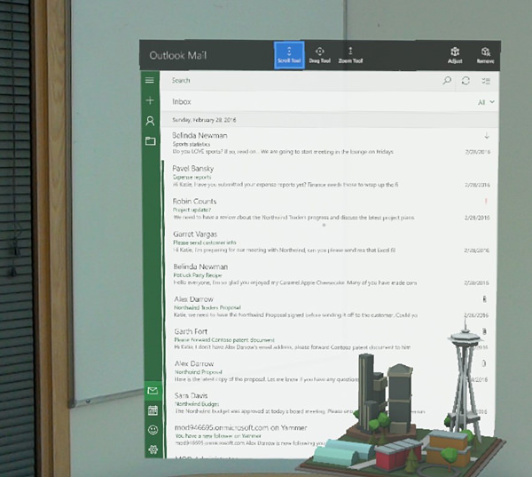 HoloLens - Outlook Mail